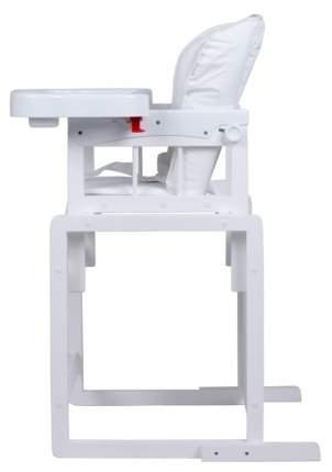 ГЛОБЭКС Стул-стол для кормления МИШУТКА, Белый с регулируемой спинкой 1406