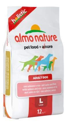 Сухой корм для собак Almo Nature Holistic Large, для крупных пород, с лососем, 12кг