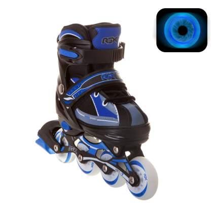 Раздвижные роликовые коньки RGX Fantom Blue LED подсветка колес L 38-41