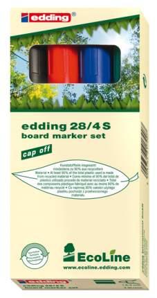 Набор маркеров для белых досок EcoLine 1,5-3 мм, 4 цвета в наборе, картонная коробк