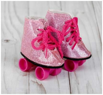 """Ролики для кукол """"Блестки"""", длина подошвы 8 см, цвет розовый Sima-Land"""
