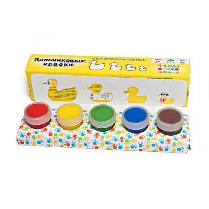 Пальчиковые краски с трафаретом Molly Больше-меньше утята 5 цветов