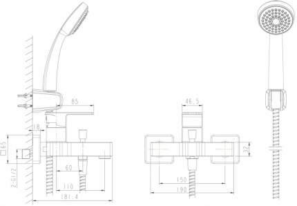Смеситель для ванны BRAVAT F672106C-B
