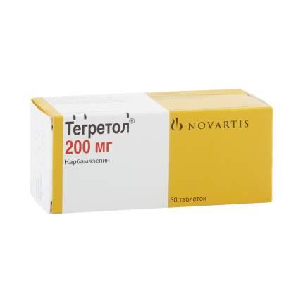 Тегретол ЦР таблетки 200 мг 50 шт.