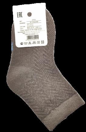 Носки детские высокие Хлопок коричневые, 6-12 месяцев