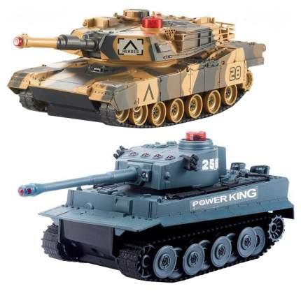 Радиоуправляемый танковый бой Huan QI Tiger vs Leopard