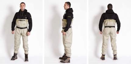 Вейдерсы Norfin Whitewater, светло-серые, XS INT, 40 RU