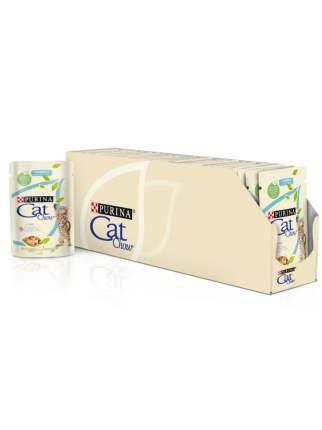 Влажный корм для котят Cat Chow Kitten, с индейкой и кабачками в желе, 24шт по 85г