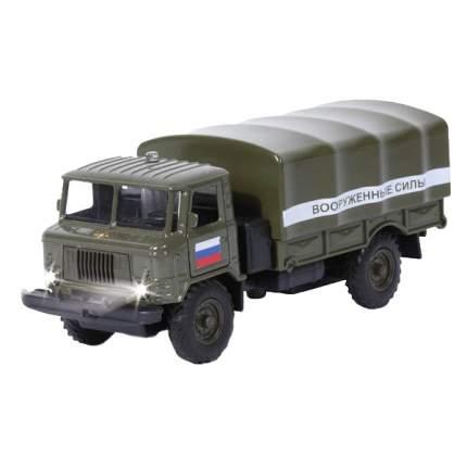 ГАЗ Технопарк инерционный, металлический 66 вооруженные силы, со светом и звуком