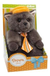 Мягкая игрушка Gulliver Котик Дымок в картузе и с галстуком, 24 см