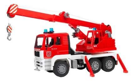 Пожарная машина с автокраном Bruder MAN