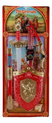 Набор оружия Играем Вместе Три богатыря (Лук и Щит и Меч) 32x74x3 см