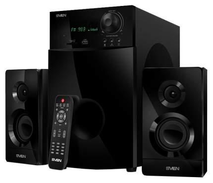 Колонки для компьютера Sven MS-2100 2х15 + 50 Вт SD/USB FM дисплей ПДУ черные