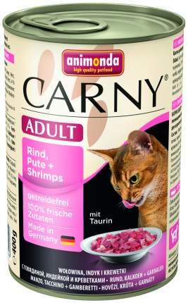 Консервы для кошек Animonda Carny Adult, с индейкой и креветками, 6шт по 400г