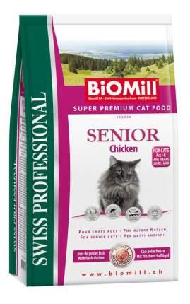 Сухой корм для кошек BIOMILL Swiss Professional Senior, для пожилых, курица, 0,5кг