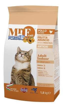 Сухой корм для кошек Forza10 Mr Fruit Indoor, для домашних, курица, рыба, 1,5кг