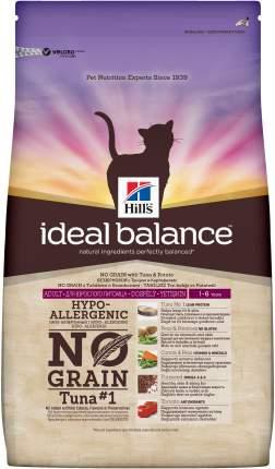 Сухой корм для кошек Hill's Ideal Balance, беззерновой, тунец, картофель, 2кг