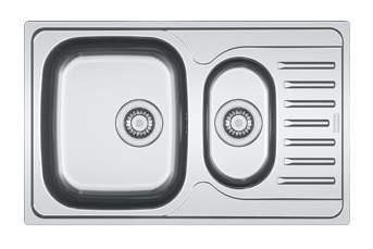 Мойка для кухни из нержавеющей стали Franke Polar PXL 651-78 1010192923 серебристый