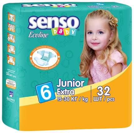 Подгузники Senso Baby Ecoline Junior Extra 6 (15-30 кг), 32 шт.