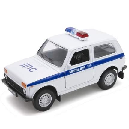 Модель машины Welly Lada 4х4 ДПС 1:34
