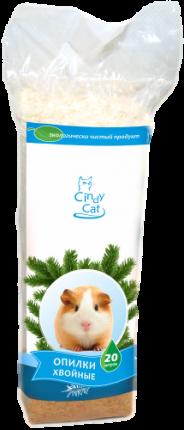 Хвойные опилки для грызунов CINDY CAT 20 л