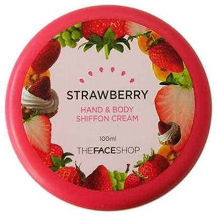 Крем для тела THE FACE SHOP Hand & Body Shiffon Strawberry Cream 100 мл