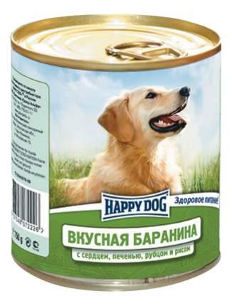 Консервы для собак Happy Dog, вкусная баранина, рис, 750г