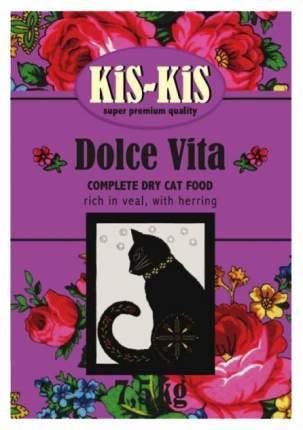 Сухой корм для кошек KiS-KiS Dolce Vita, индейка, гусь, утка, курица, 7,5кг