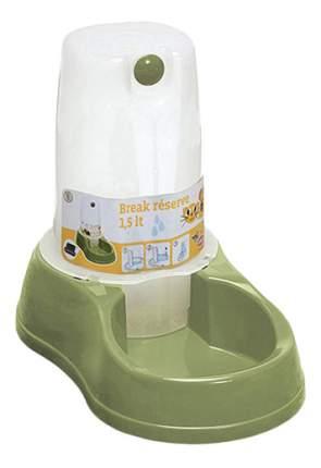 Кормушка-автопоилка для кошек и собак Stefanplast, зеленый, 1.5 л