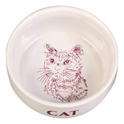 Одинарная миска для кошек и собак TRIXIE, керамика, белый, 0.3 л