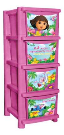 Комод детский Plastic Republic Даша Путешественница розовый
