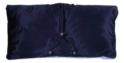Муфта для рук мамы на детскую коляску Чудо-Чадо Флисовая (на липучке) синий