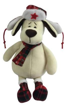 Мягкая игрушка Teddy Собака в ушанке с шарфом, 24 см