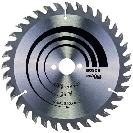 Диск по дереву Bosch STD WO 160x20-36T 2608640597