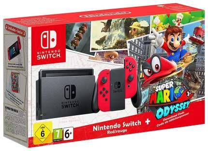 Портативная игровая консоль Nintendo Switch Red + Super Mario Odyssey