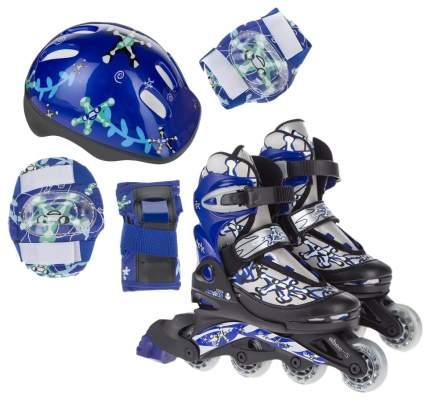 Роликовые коньки Action PW-780 34-37 размер с защитой и шлемом