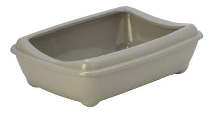 Лоток для кошек MODERNA Arist-o-tray с высоким бортом, светло-серый, 50 х 38 х 14 см