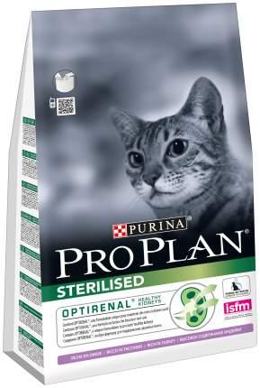 Сухой корм для кошек PRO PLAN Sterilised  Optirenal, для стерилизованных, индейка, 1,9кг