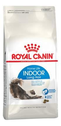 Сухой корм для кошек ROYAL CANIN Indoor Long Hair, для домашних длинношерстных, 0,4кг