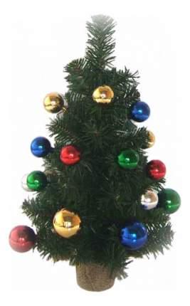Ель искусственная Winter Wings декоративная украшенная разноцветными шарами 41 см