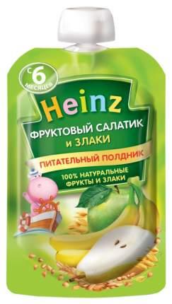 Пюре фруктовое Heinz Фруктовый салатик и злаки с 6 мес. 90 г