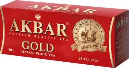Чай черный Akbar gold 25 пакетиков
