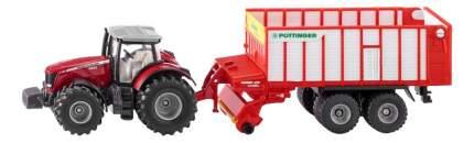 Спецтехника Siku Трактор Massey Ferguson с кузовом Poettinger Jumbo