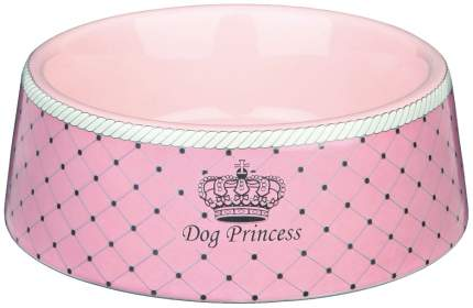Одинарная миска для кошек TRIXIE, керамика, резина, розовый, 0.18 л