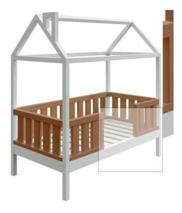 Кровать-домик Трурум KidS Сказка широкий бортик кофейно-белая