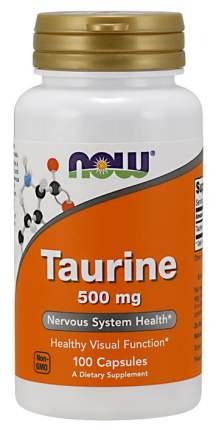 NOW Sports Taurine 100 капсул без вкуса