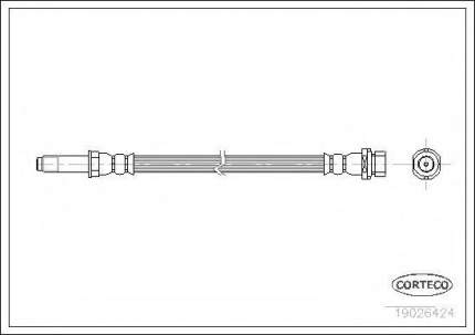 Шланг тормозной Corteco 19026424
