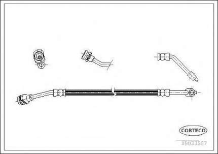 Шланг тормозной системы Corteco 19033567