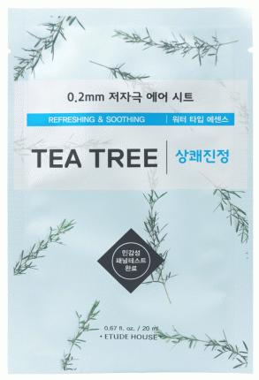 Маска для лица Etude House c экстрактом чайного дерева тканевая, 20 мл