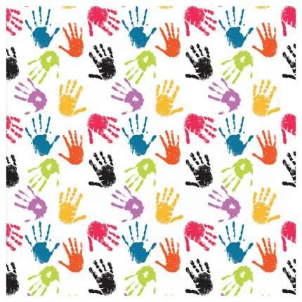 Постер из ткани вертикальный «Цветные отпечатки рук» JoyArty tp_17960